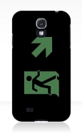 Running Man Fire Safety Exit Sign Emergency Evacuation Samsung Galaxy Mobile Phone Case 25