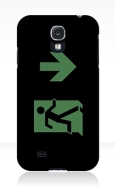 Running Man Fire Safety Exit Sign Emergency Evacuation Samsung Galaxy Mobile Phone Case 26