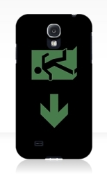 Running Man Fire Safety Exit Sign Emergency Evacuation Samsung Galaxy Mobile Phone Case 29