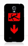Running Man Fire Safety Exit Sign Emergency Evacuation Samsung Galaxy Mobile Phone Case 3