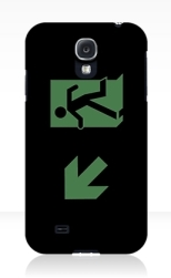 Running Man Fire Safety Exit Sign Emergency Evacuation Samsung Galaxy Mobile Phone Case 30