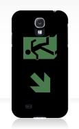 Running Man Fire Safety Exit Sign Emergency Evacuation Samsung Galaxy Mobile Phone Case 31