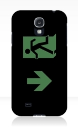 Running Man Fire Safety Exit Sign Emergency Evacuation Samsung Galaxy Mobile Phone Case 32