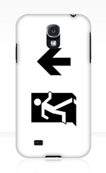 Running Man Fire Safety Exit Sign Emergency Evacuation Samsung Galaxy Mobile Phone Case 34