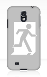 Running Man Fire Safety Exit Sign Emergency Evacuation Samsung Galaxy Mobile Phone Case 35