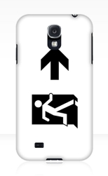 Running Man Fire Safety Exit Sign Emergency Evacuation Samsung Galaxy Mobile Phone Case 36