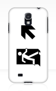 Running Man Fire Safety Exit Sign Emergency Evacuation Samsung Galaxy Mobile Phone Case 37