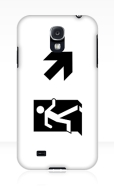 Running Man Fire Safety Exit Sign Emergency Evacuation Samsung Galaxy Mobile Phone Case 38