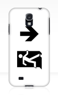 Running Man Fire Safety Exit Sign Emergency Evacuation Samsung Galaxy Mobile Phone Case 39