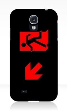 Running Man Fire Safety Exit Sign Emergency Evacuation Samsung Galaxy Mobile Phone Case 4