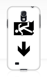 Running Man Fire Safety Exit Sign Emergency Evacuation Samsung Galaxy Mobile Phone Case 42