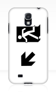 Running Man Fire Safety Exit Sign Emergency Evacuation Samsung Galaxy Mobile Phone Case 43