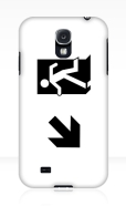 Running Man Fire Safety Exit Sign Emergency Evacuation Samsung Galaxy Mobile Phone Case 44