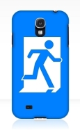 Running Man Fire Safety Exit Sign Emergency Evacuation Samsung Galaxy Mobile Phone Case 45