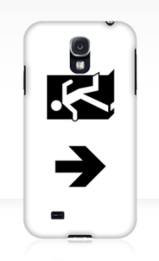 Running Man Fire Safety Exit Sign Emergency Evacuation Samsung Galaxy Mobile Phone Case 46