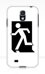 Running Man Fire Safety Exit Sign Emergency Evacuation Samsung Galaxy Mobile Phone Case 47
