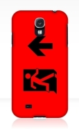 Running Man Fire Safety Exit Sign Emergency Evacuation Samsung Galaxy Mobile Phone Case 48
