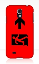 Running Man Fire Safety Exit Sign Emergency Evacuation Samsung Galaxy Mobile Phone Case 49