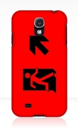 Running Man Fire Safety Exit Sign Emergency Evacuation Samsung Galaxy Mobile Phone Case 50