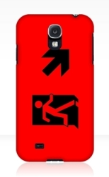 Running Man Fire Safety Exit Sign Emergency Evacuation Samsung Galaxy Mobile Phone Case 51