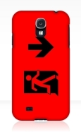 Running Man Fire Safety Exit Sign Emergency Evacuation Samsung Galaxy Mobile Phone Case 52