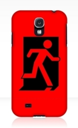 Running Man Fire Safety Exit Sign Emergency Evacuation Samsung Galaxy Mobile Phone Case 53