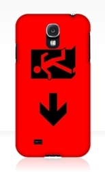 Running Man Fire Safety Exit Sign Emergency Evacuation Samsung Galaxy Mobile Phone Case 55