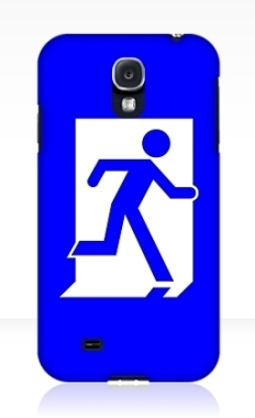 Running Man Fire Safety Exit Sign Emergency Evacuation Samsung Galaxy Mobile Phone Case 56