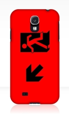 Running Man Fire Safety Exit Sign Emergency Evacuation Samsung Galaxy Mobile Phone Case 57