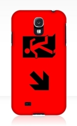 Running Man Fire Safety Exit Sign Emergency Evacuation Samsung Galaxy Mobile Phone Case 58
