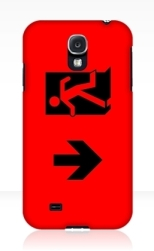 Running Man Fire Safety Exit Sign Emergency Evacuation Samsung Galaxy Mobile Phone Case 59