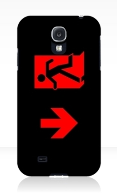 Running Man Fire Safety Exit Sign Emergency Evacuation Samsung Galaxy Mobile Phone Case 6