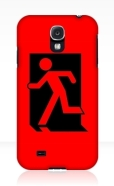 Running Man Fire Safety Exit Sign Emergency Evacuation Samsung Galaxy Mobile Phone Case 60