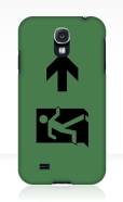 Running Man Fire Safety Exit Sign Emergency Evacuation Samsung Galaxy Mobile Phone Case 62