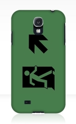 Running Man Fire Safety Exit Sign Emergency Evacuation Samsung Galaxy Mobile Phone Case 63