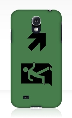Running Man Fire Safety Exit Sign Emergency Evacuation Samsung Galaxy Mobile Phone Case 64