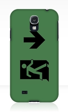 Running Man Fire Safety Exit Sign Emergency Evacuation Samsung Galaxy Mobile Phone Case 65