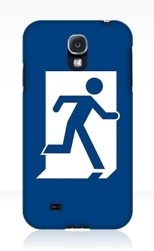 Running Man Fire Safety Exit Sign Emergency Evacuation Samsung Galaxy Mobile Phone Case 67