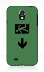 Running Man Fire Safety Exit Sign Emergency Evacuation Samsung Galaxy Mobile Phone Case 68