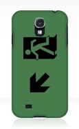 Running Man Fire Safety Exit Sign Emergency Evacuation Samsung Galaxy Mobile Phone Case 69