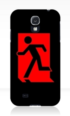 Running Man Fire Safety Exit Sign Emergency Evacuation Samsung Galaxy Mobile Phone Case 7