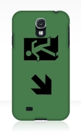 Running Man Fire Safety Exit Sign Emergency Evacuation Samsung Galaxy Mobile Phone Case 70