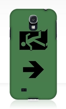 Running Man Fire Safety Exit Sign Emergency Evacuation Samsung Galaxy Mobile Phone Case 71