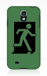Running Man Fire Safety Exit Sign Emergency Evacuation Samsung Galaxy Mobile Phone Case 72