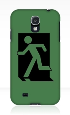Running Man Fire Safety Exit Sign Emergency Evacuation Samsung Galaxy Mobile Phone Case 73