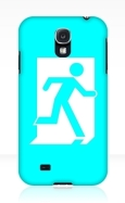 Running Man Fire Safety Exit Sign Emergency Evacuation Samsung Galaxy Mobile Phone Case 74