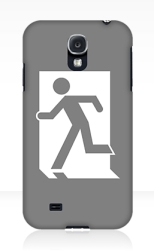 Running Man Fire Safety Exit Sign Emergency Evacuation Samsung Galaxy Mobile Phone Case 75