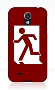 Running Man Fire Safety Exit Sign Emergency Evacuation Samsung Galaxy Mobile Phone Case 76