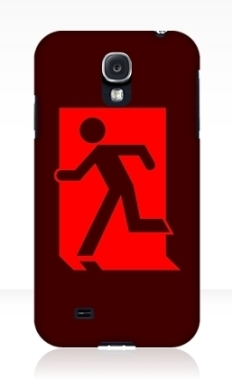 Running Man Fire Safety Exit Sign Emergency Evacuation Samsung Galaxy Mobile Phone Case 77