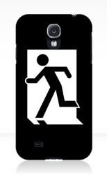 Running Man Fire Safety Exit Sign Emergency Evacuation Samsung Galaxy Mobile Phone Case 78